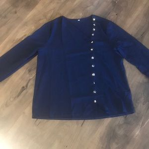 Never worn! Gold button blouse!